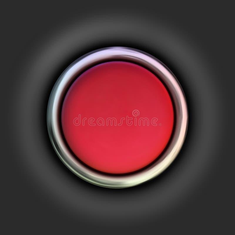 Bouton rouge réaliste Illustration de vecteur illustration stock