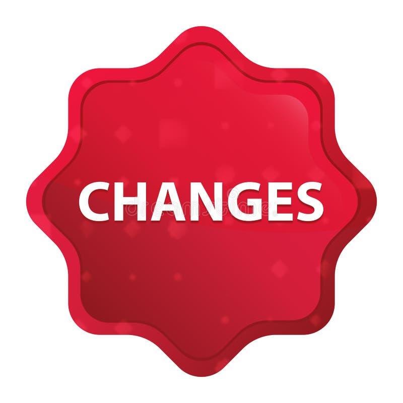 Bouton rouge rose brumeux d'autocollant de starburst de changements illustration libre de droits