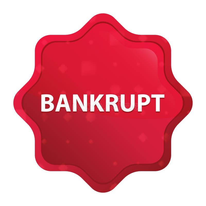 Bouton rouge rose brumeux faillite d'autocollant de starburst illustration libre de droits