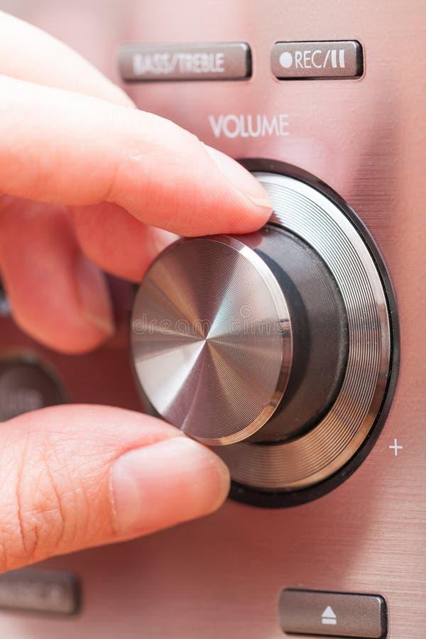 Bouton sain de contrôle du volume photographie stock libre de droits