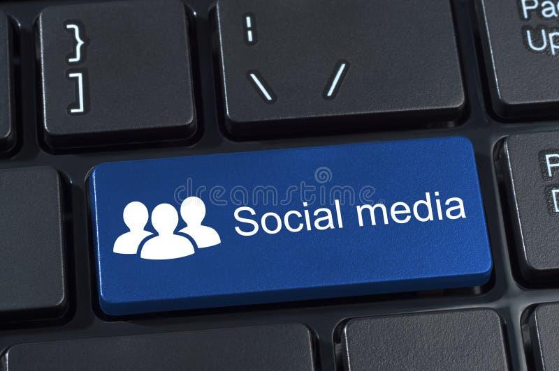 Bouton social d'ordinateur de media. illustration libre de droits