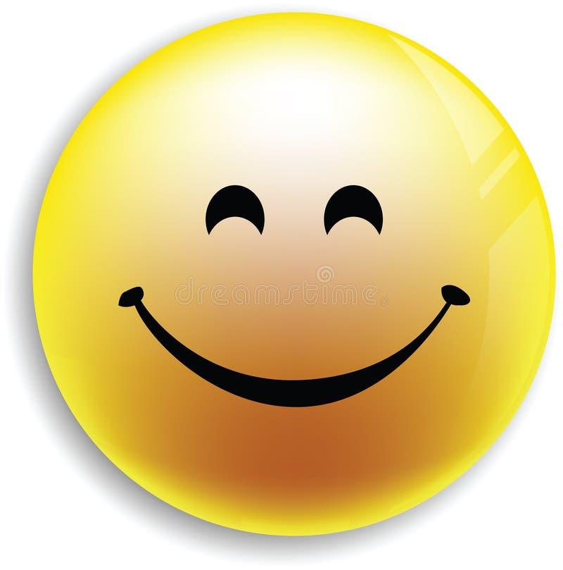 Bouton souriant de visage illustration stock