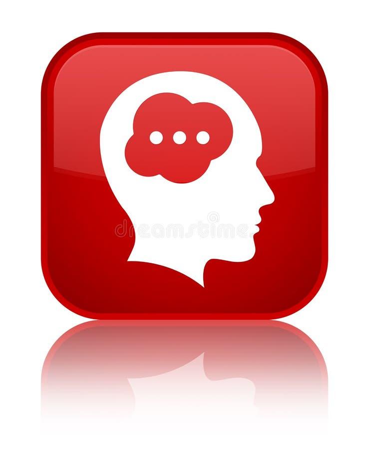Bouton spécial de place rouge d'icône principale de cerveau illustration de vecteur