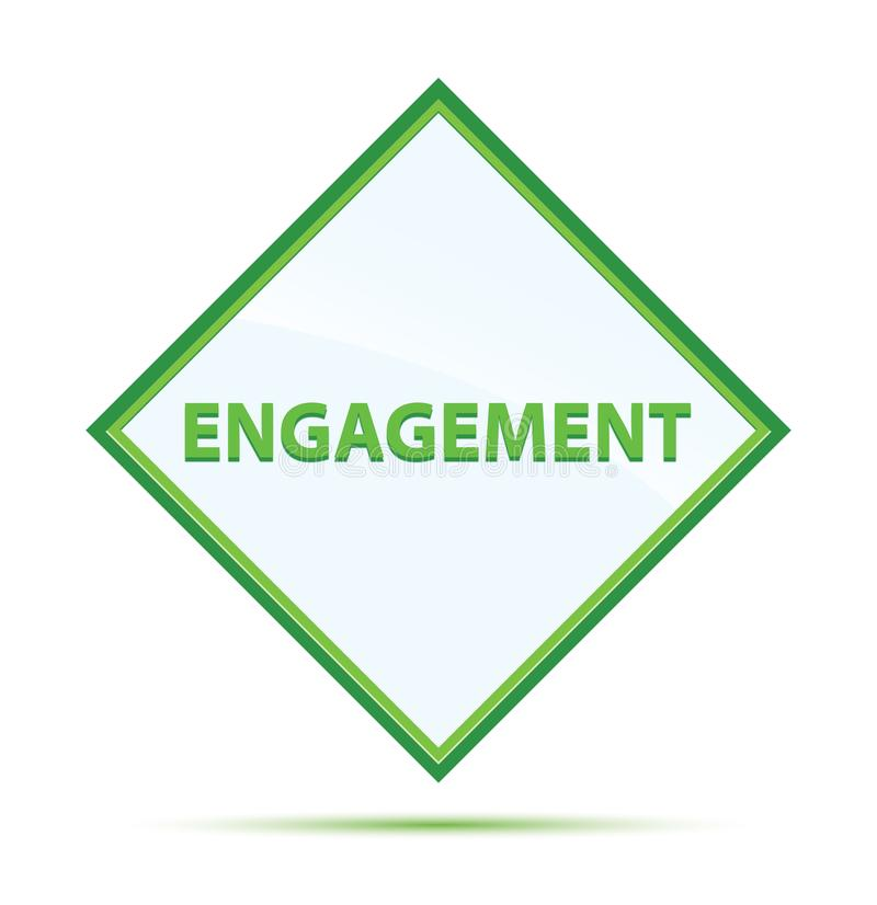 Bouton vert abstrait moderne de diamant d'engagement illustration de vecteur