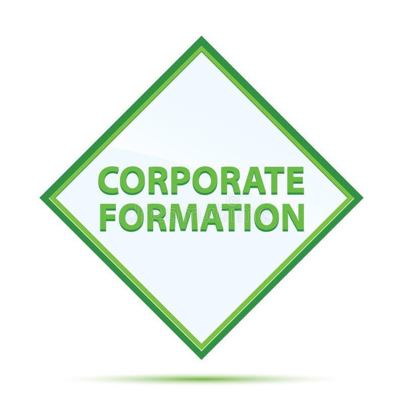 Bouton vert abstrait moderne de diamant de formation d'entreprise illustration libre de droits