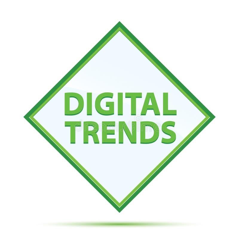 Bouton vert abstrait moderne de diamant de tendances de Digital illustration de vecteur