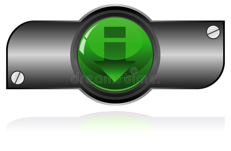 Bouton vert de gel illustration libre de droits