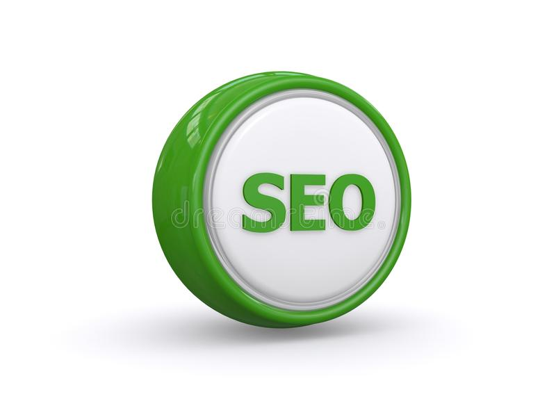 Bouton vert de SEO illustration stock