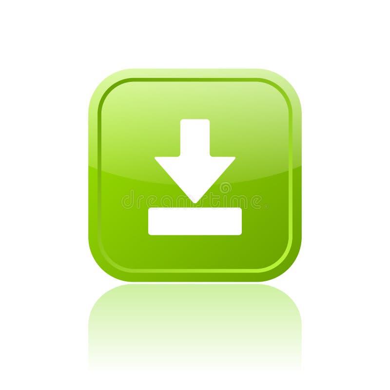Bouton vert de téléchargement illustration de vecteur