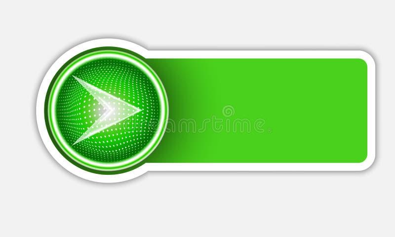 Bouton vert de vecteur illustration libre de droits