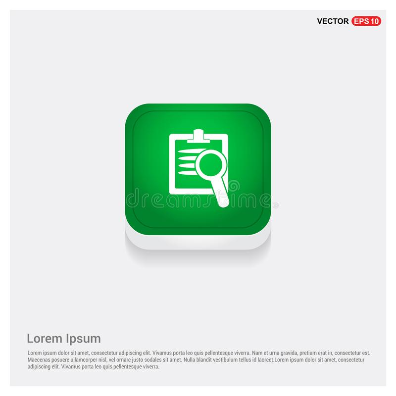 Bouton vert de Web d'icônes de fichiers informatiques illustration stock