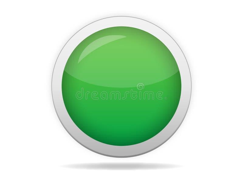 Bouton vide vert de Web illustration de vecteur