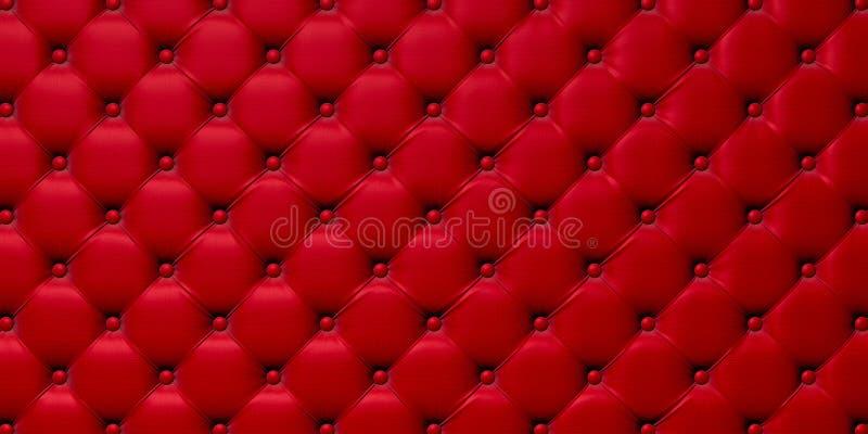 Boutonné sur la texture 3d rouge illustration stock