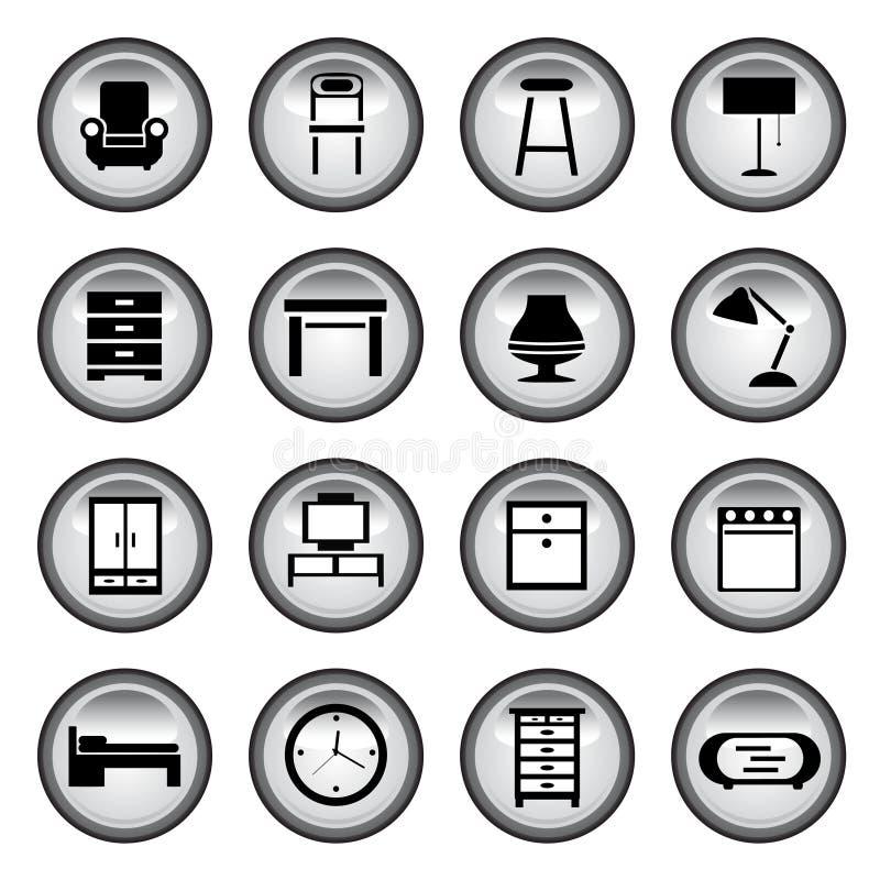 boutonne des meubles illustration stock