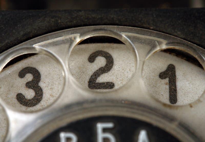 boutonne le vieux téléphone image stock
