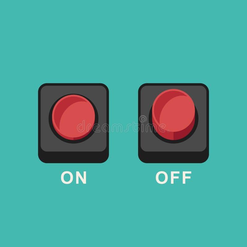 Boutonne les icônes plates photo libre de droits