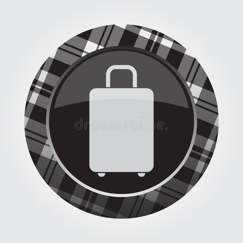 Boutonnez avec le tartan blanc et noir - icône de valise illustration libre de droits