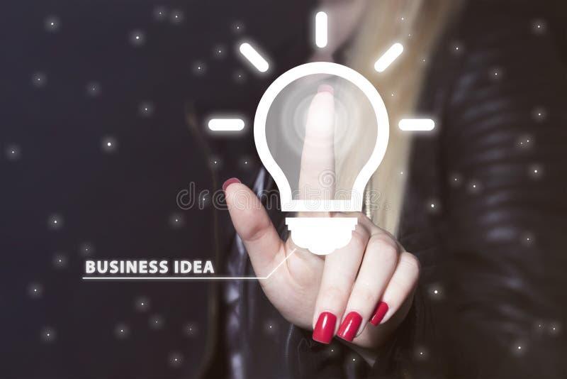 Boutonnez la communication d'icône d'affaires d'ampoule d'idée en ligne photo libre de droits