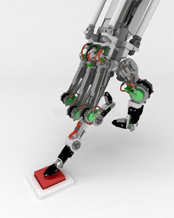 boutonnez la main robotique illustration stock
