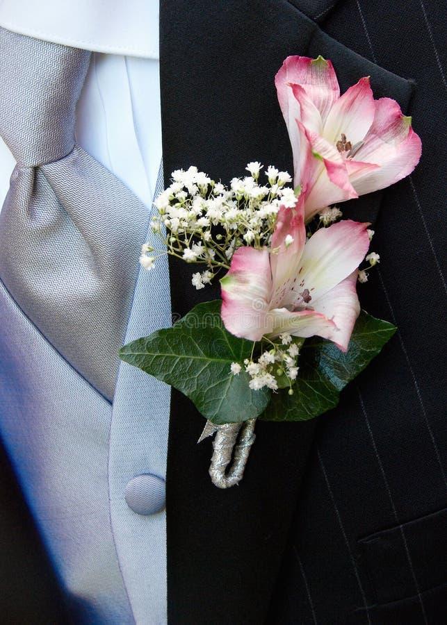 boutonniere ślub obrazy stock