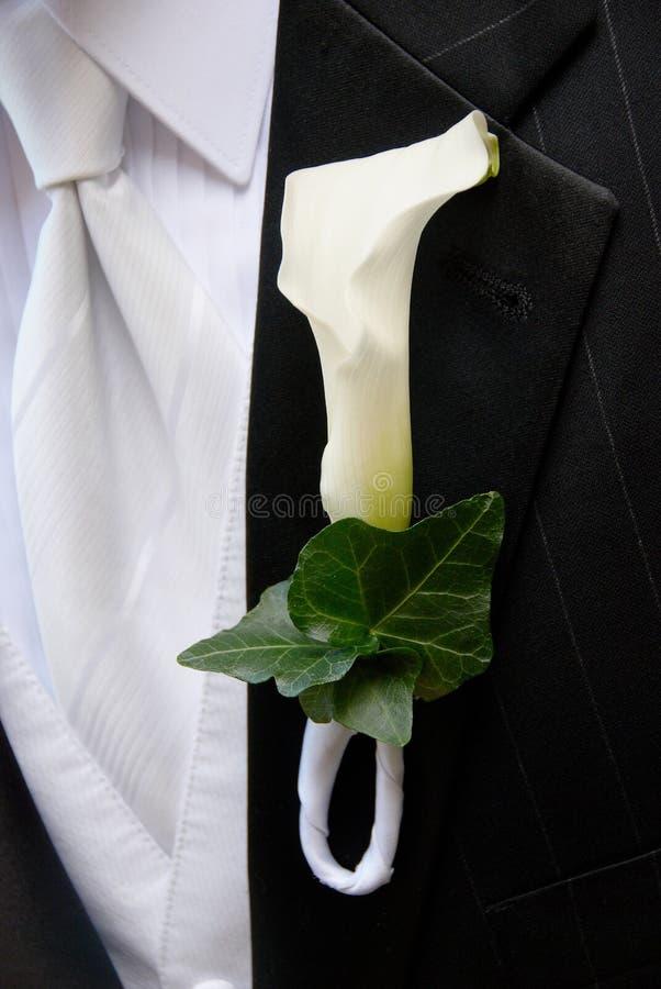 boutonniere ślub zdjęcie stock
