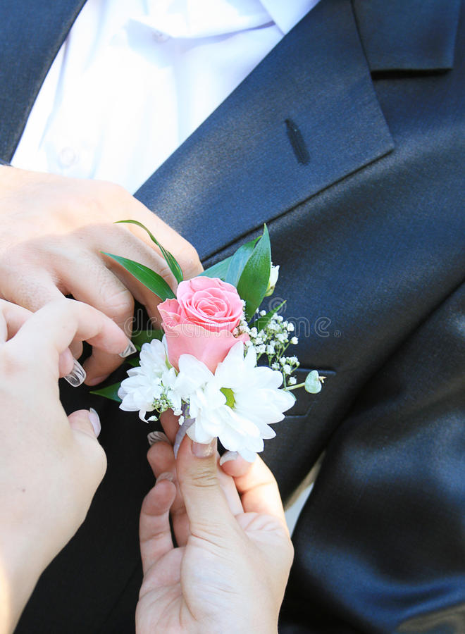 boutonniere obraz royalty free