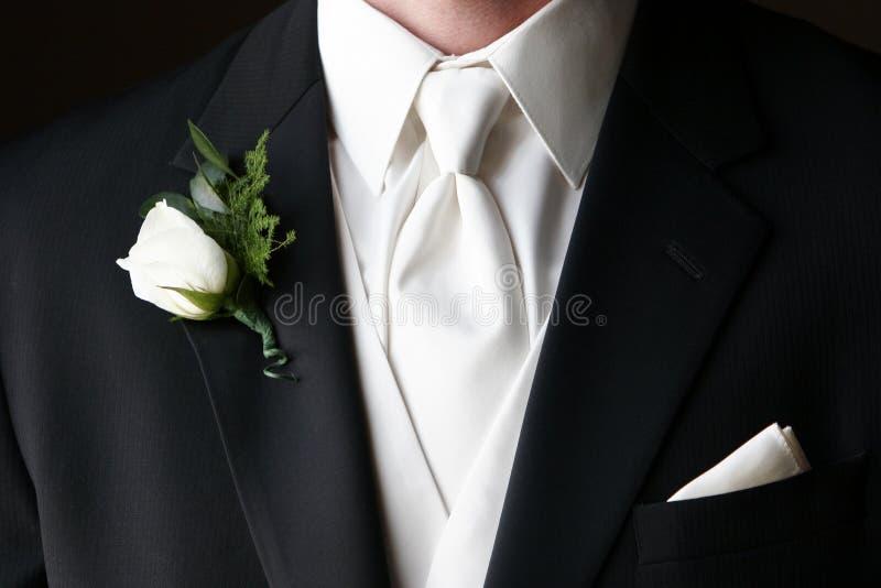 Boutonniere de la boda fotografía de archivo