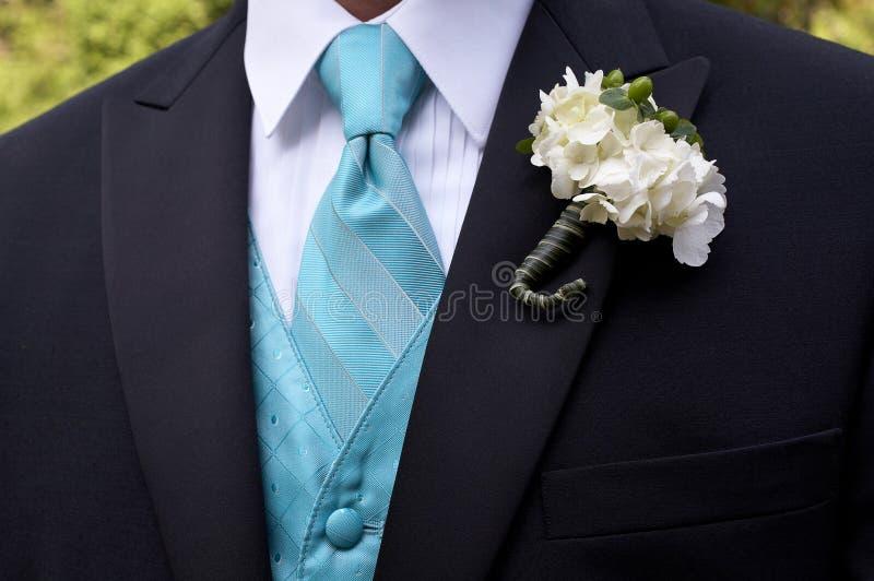 Boutonniere de la boda foto de archivo libre de regalías