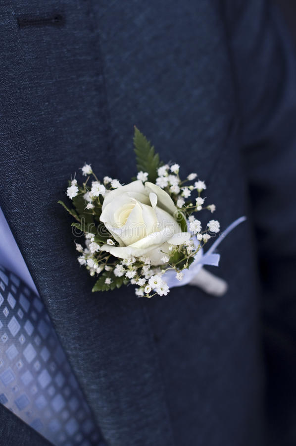 Boutonniere de mariage photo stock