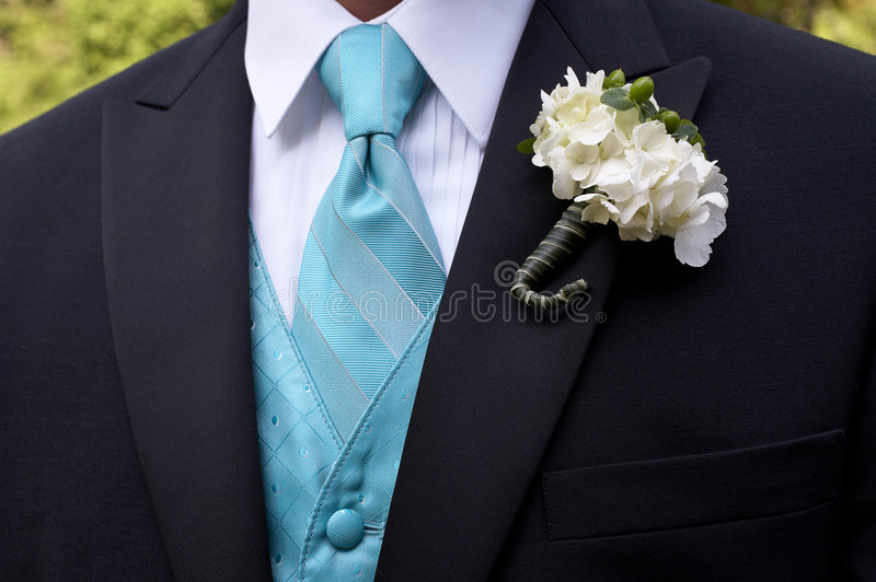 Boutonniere de mariage photo libre de droits
