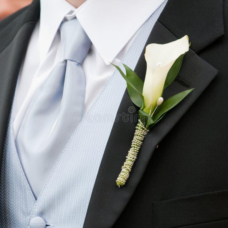 Boutonniere de mariage photos libres de droits