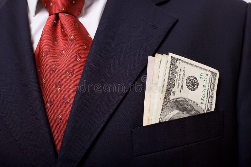 Boutonniere met geld stock foto's