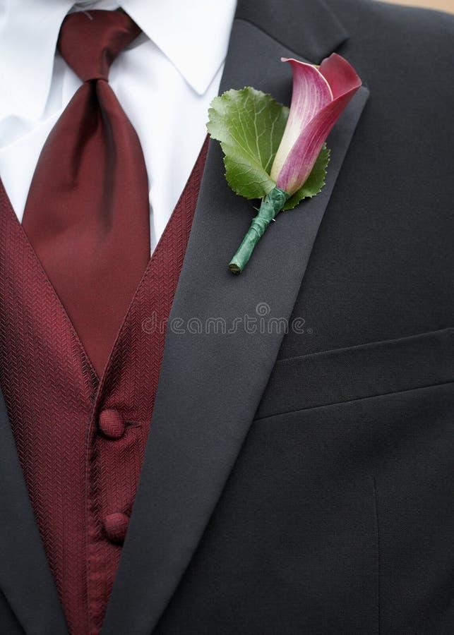 boutonnierebröllop royaltyfria bilder
