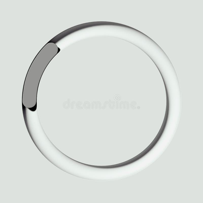 Boutons à bascule blancs et gris sur le fond clair rendu 3d illustration libre de droits