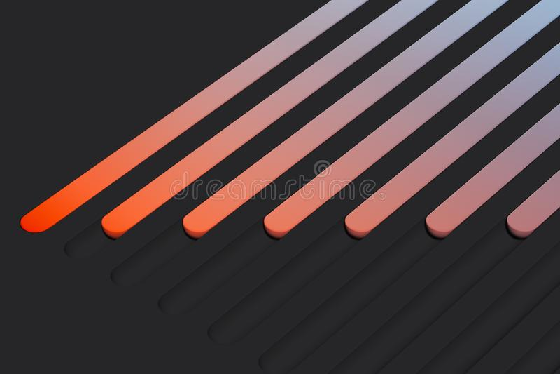 Boutons à bascule multicolores réalistes sur le fond foncé rendu 3d illustration de vecteur