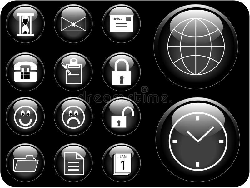boutons illustration libre de droits