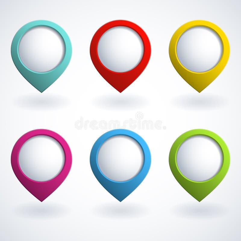 boutons 3d illustration de vecteur