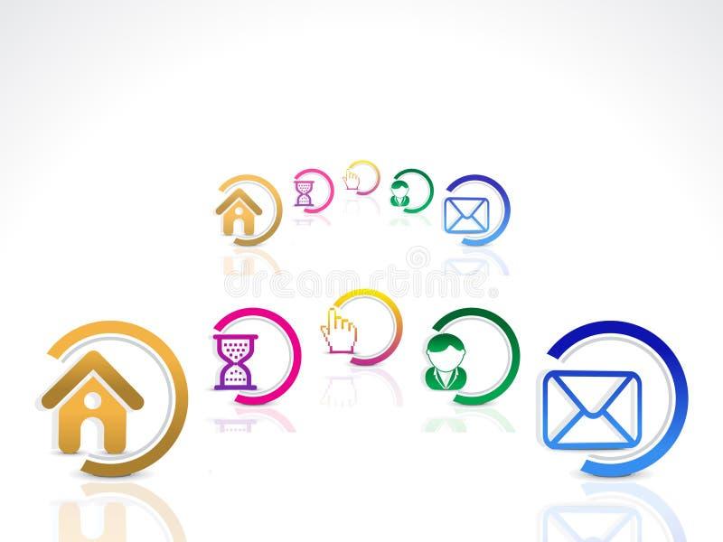 Boutons abstraits de Web réglés illustration de vecteur