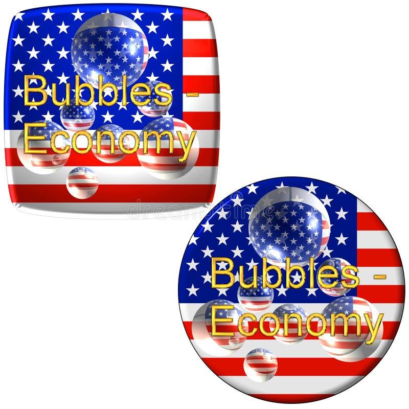 Boutons américains d'économie illustration libre de droits