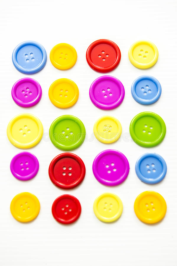 Boutons assortis lumineux, photographie stock
