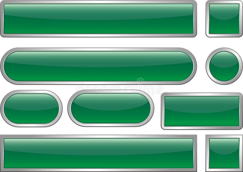 Boutons blanc de Web illustration libre de droits