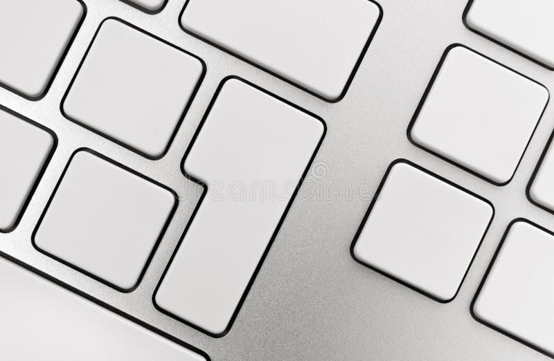 Boutons blanc sur le clavier images libres de droits