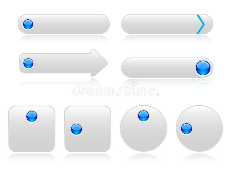 boutons blancs pour le web illustration de vecteur illustration du connexion 14492056. Black Bedroom Furniture Sets. Home Design Ideas