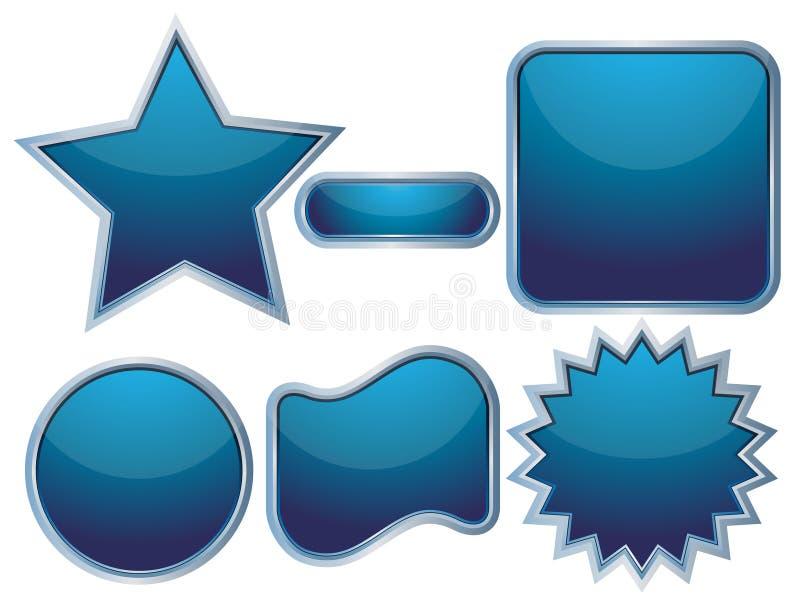 Boutons bleus de Web illustration libre de droits