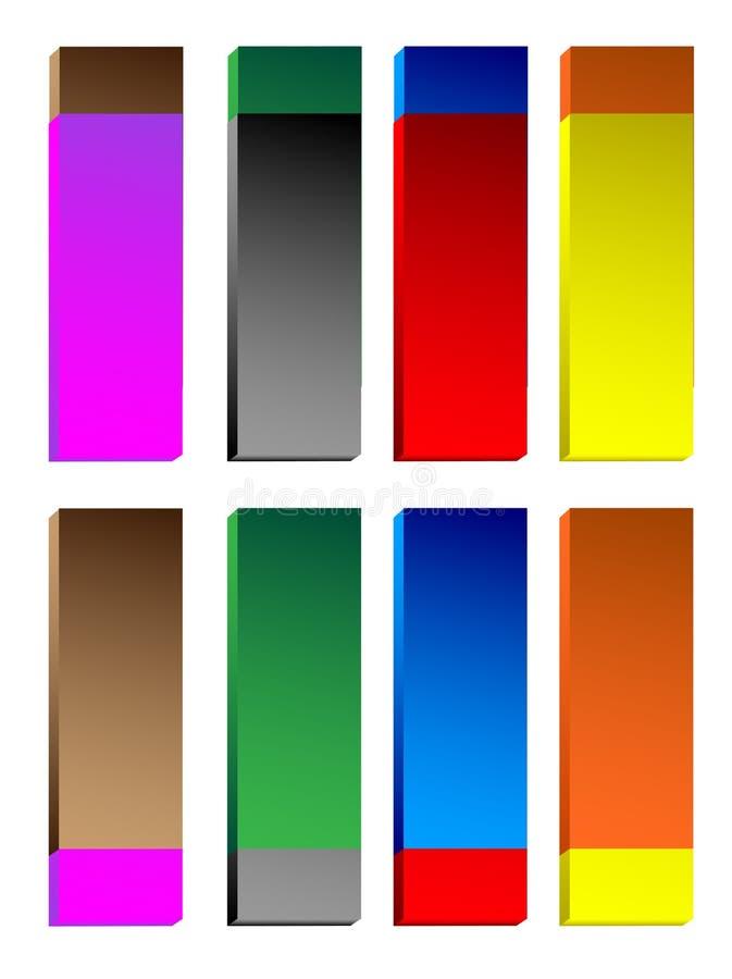 Boutons brillants colorés illustration libre de droits