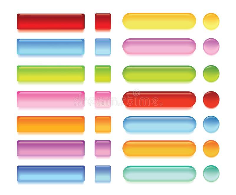 Boutons brillants de Web illustration libre de droits