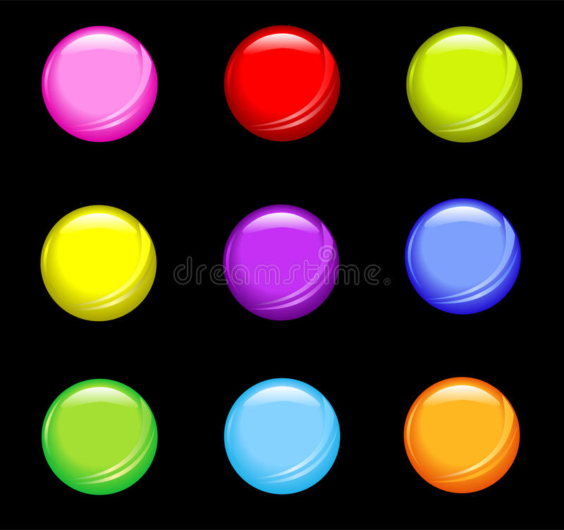 Boutons brillants simples illustration stock