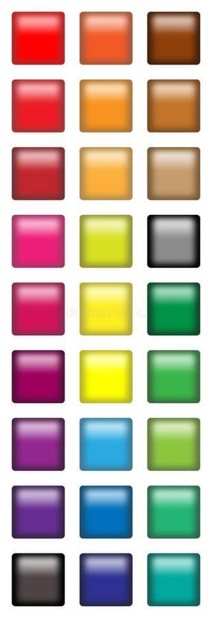 Boutons carrés de Web illustration de vecteur