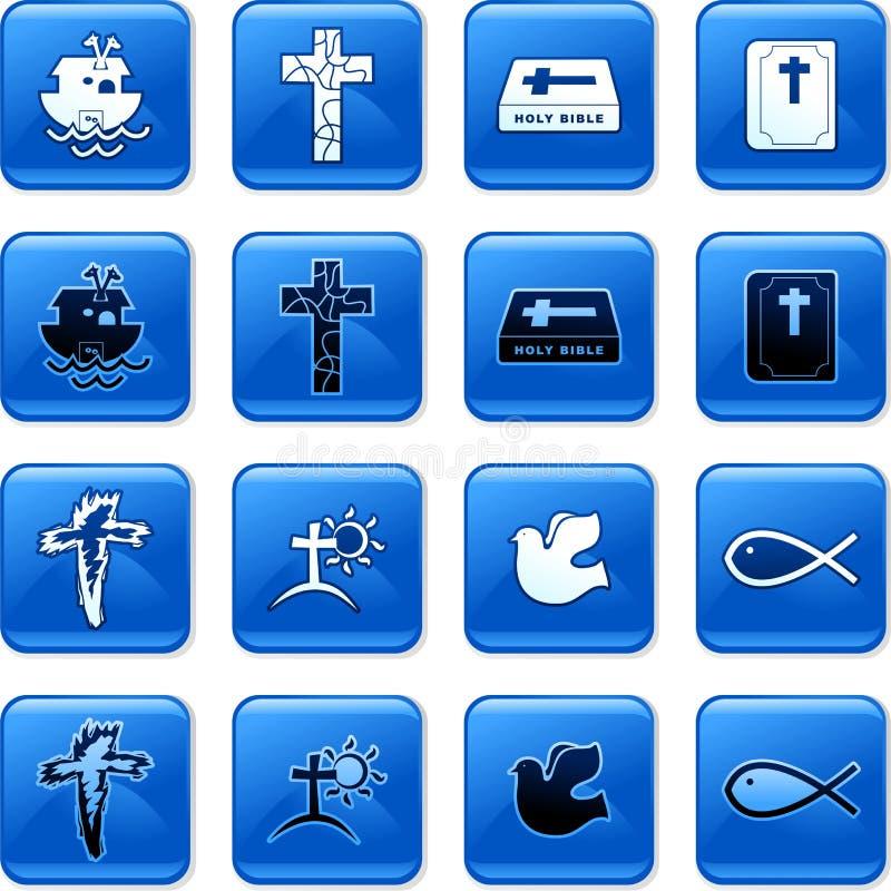 Boutons chrétiens illustration de vecteur