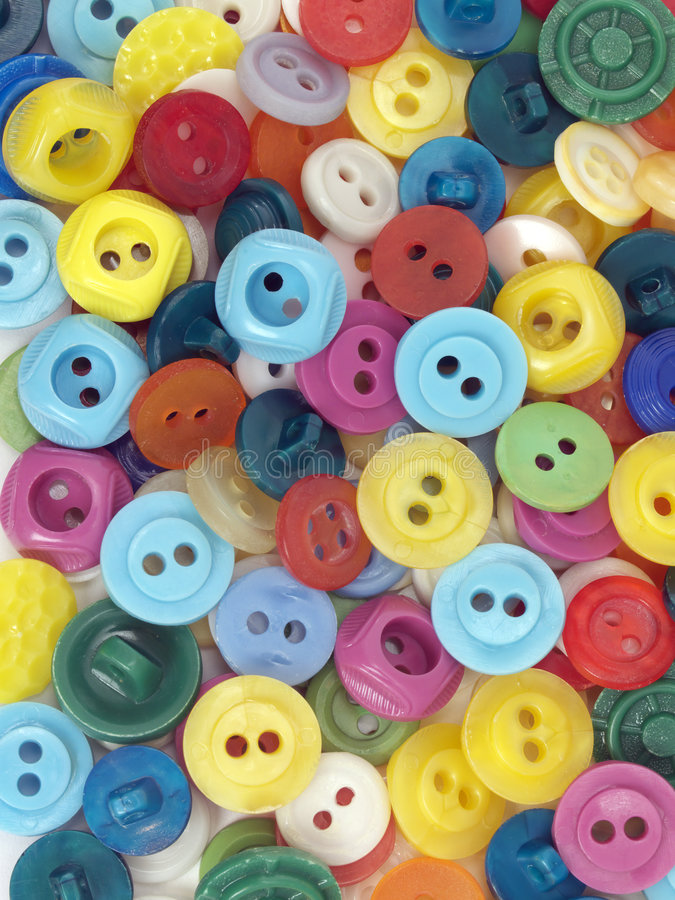 Boutons colorés photo libre de droits